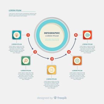 Diseño infográfico de línea de tiempo para marketing