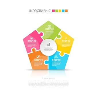 Diseño infográfico de negocios