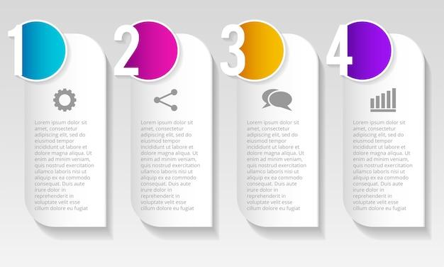 Diseño infográfico sobre fondo gris