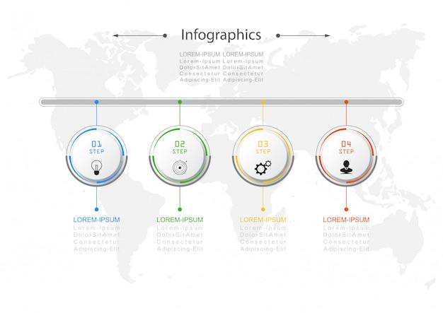 Diseño infográfico vector concepto de negocio