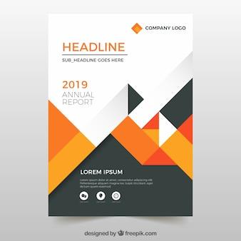 Diseño de informe anual en estilo geométrico