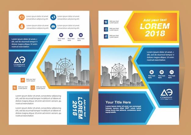 Diseño para el informe anual con el fondo de la ciudad
