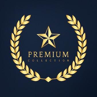 Diseño de la insignia de la colección premium.