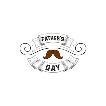 Diseño de la insignia del día del padre.