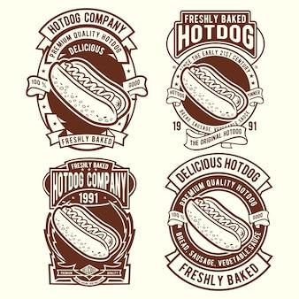 Diseño de insignia de hot dog
