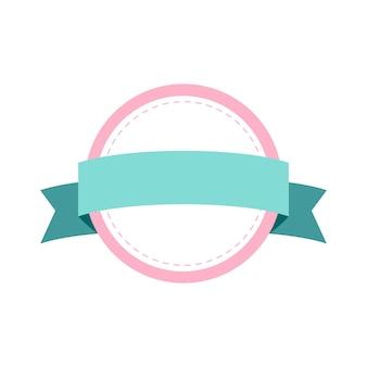 Diseño de la insignia del marco pastel