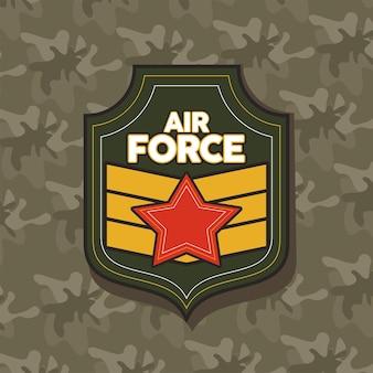Diseño de insignia militar de la fuerza aérea.