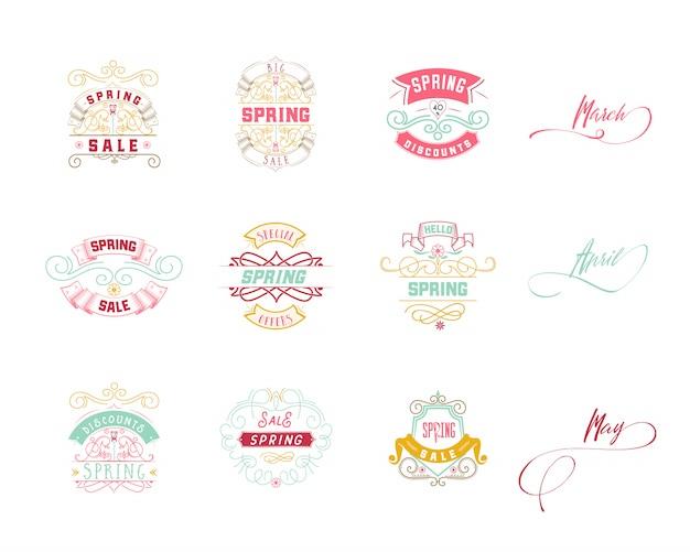Diseño de la insignia de venta de primavera
