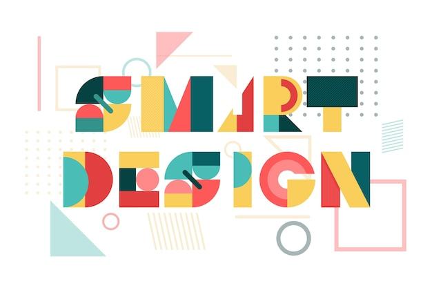 Diseño inteligente en letras geométricas.