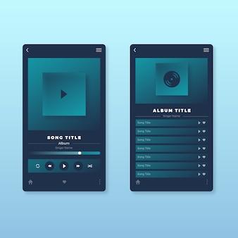 Diseño de la interfaz de la aplicación del reproductor de música