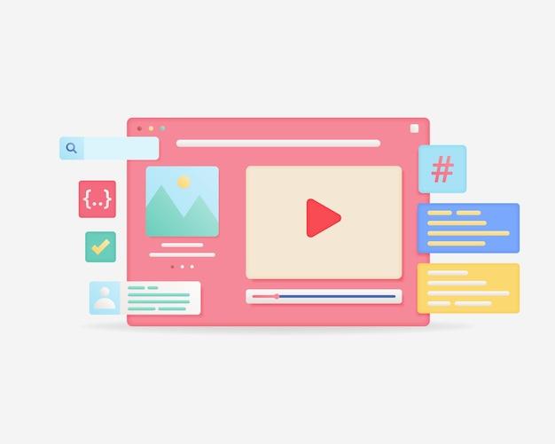 Diseño de interfaz de página web diseño web y concepto de desarrollo web