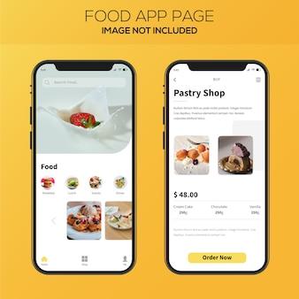 Diseño de interfaz de usuario de la aplicación de entrega de alimentos