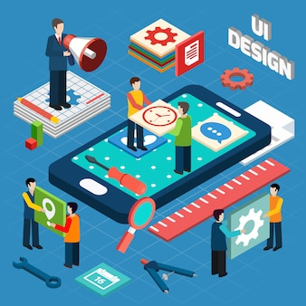 Diseño de interfaz de usuario concepto de diseño de símbolos