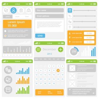 Diseño de interfaz de usuario móvil plana