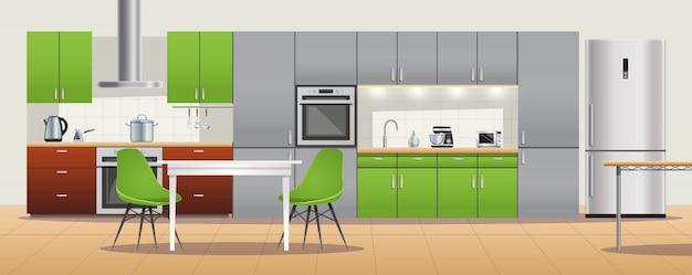 Diseño interior de cocina moderna