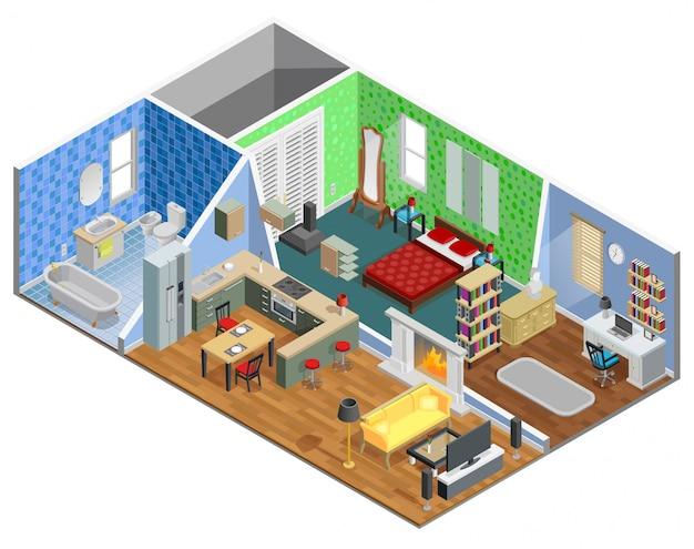 Diseño de interiores de la casa