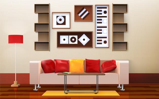 Diseño de interiores de sala de estar
