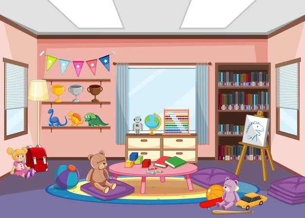 Diseño de interiores de sala de jardín de infantes