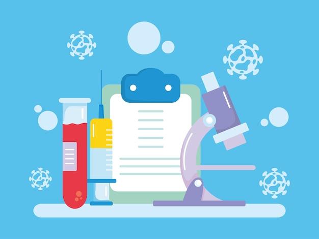 Diseño de investigación de vacunas con portapapeles