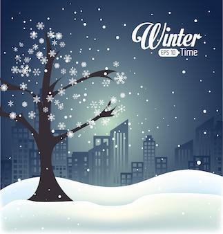 Diseño de invierno, ilustración vectorial