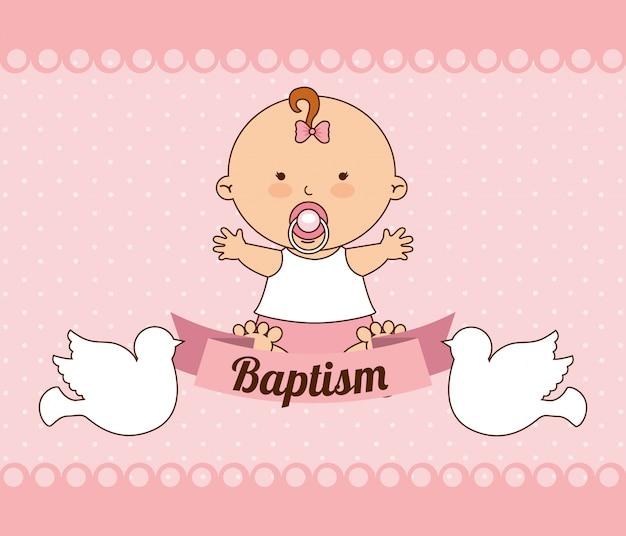 Diseño de invitación de bautismo