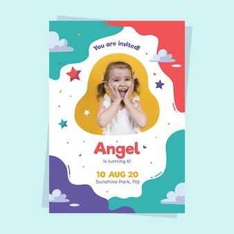 Diseño de invitación de cumpleaños para niños