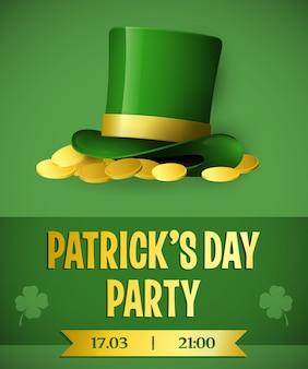 Diseño de la invitación del partido del día de patricks