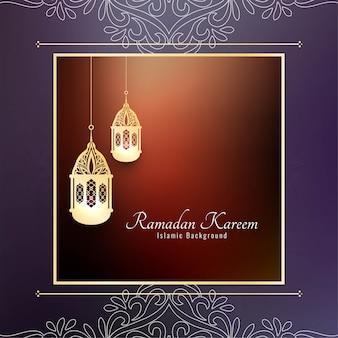 Diseño islámico abstracto del fondo de ramadan kareem