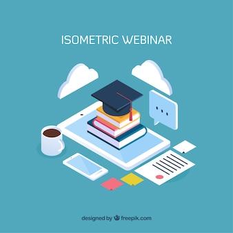 Diseño isométrico de concepto de webinar
