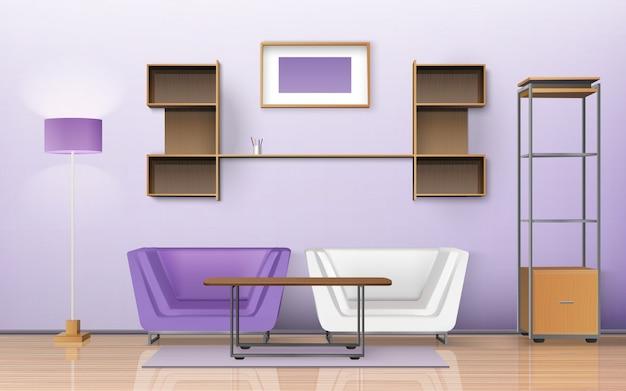 Diseño isométrico de la habitación