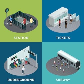 Diseño isométrico del metro