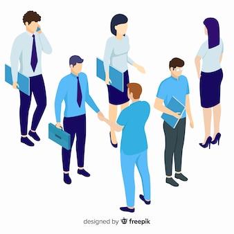 Diseño isométrico de personas de negocios