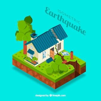 Diseño isométrico de terremoto
