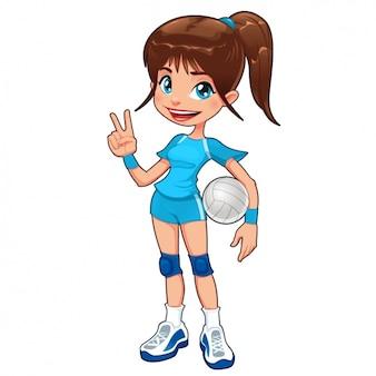 Diseño de jugadora de voleibol