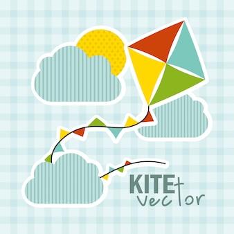 Diseño del juguete del bebé sobre fondo azul ilustración vectorial