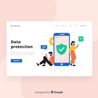 Diseño de landing page para protección de datos