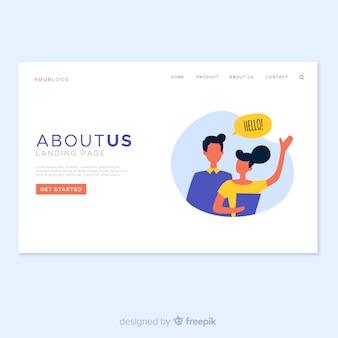 Diseño de landing page sobre nosotros