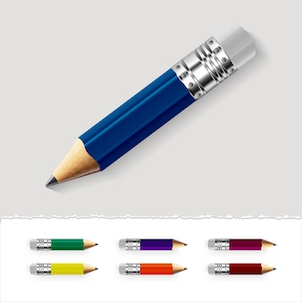 Diseño de lápices multicolor