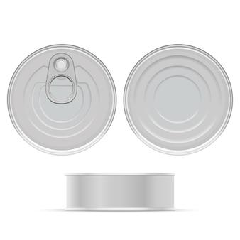 Diseño de lata gris