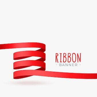 Diseño de lazo de cinta roja
