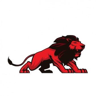 Diseño de león pintado a mano