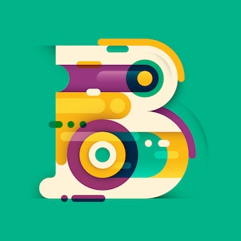 Diseño de letra b