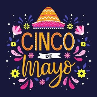 Diseño de letras del cinco de mayo