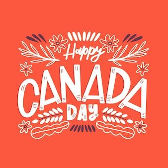 Diseño de letras del día de canadá