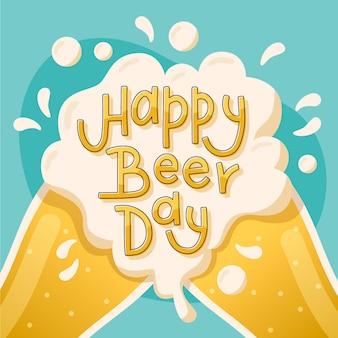 Diseño de letras del día internacional de la cerveza