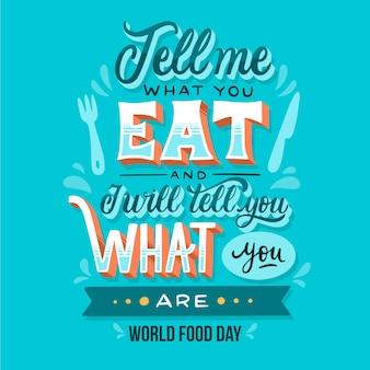 Diseño de letras del evento del día mundial de la alimentación