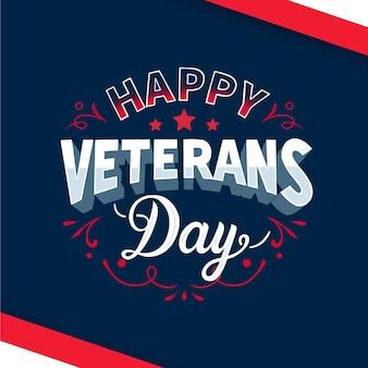 Diseño de letras feliz día de los veteranos