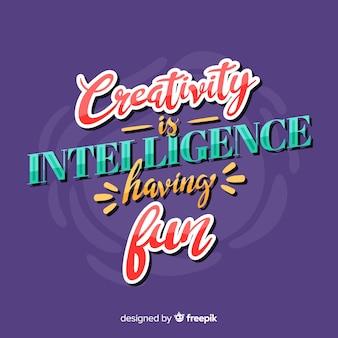 Diseño de letras con fines creativos.