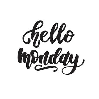 Diseño de letras lunes