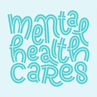 Diseño de letras de mente positiva